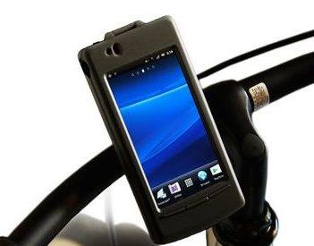 Xperiaを自転車のハンドルに ...